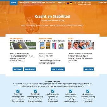Drupal website webapplicatie voor fysiotherapeuten